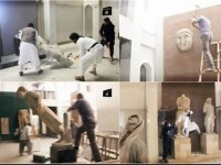 گروه داعش آثار باستانی عراق در موزه موصل را تخریب کرد