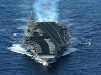 پهپاد و زیردریایی ارتش ایران از ناو آمریکایی تصویربرداری کردهاند