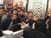 حمله لباس شخصیها به نزدیکان احمدینژاد در شاه عبدالعظیم