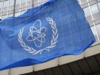 epa02631674 (FILE) A file photo dated 07 October 2005 shows the flag of the International Atomic Energy Agency (IAEA) waving in front of the organosation's headquarters in the Uno-City in Vienna, Austria. Japan officially informed the International Atomic Energy Agency (IAEA) 12 March that it experienced a 'nuclear accident with local consequences' at its Fukushima nuclear plant because radioactive doses at the sites' boundary were above-limit. Japanese authorities posted a short report on the IAEA's nuclear incident database, assigning the accident the level 4 on the international INES scale that runs from 1 (anomaly) to 7 (major accident).  EPA/ROLAND SCHLAGER